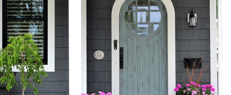 Yobi B3 Homekit Video Doorbell installed outdoors